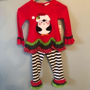 NWT Emily Rose 2pc Christmas Outfit Size 5 Girls